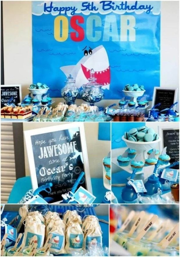 Shark Themed Pool Party