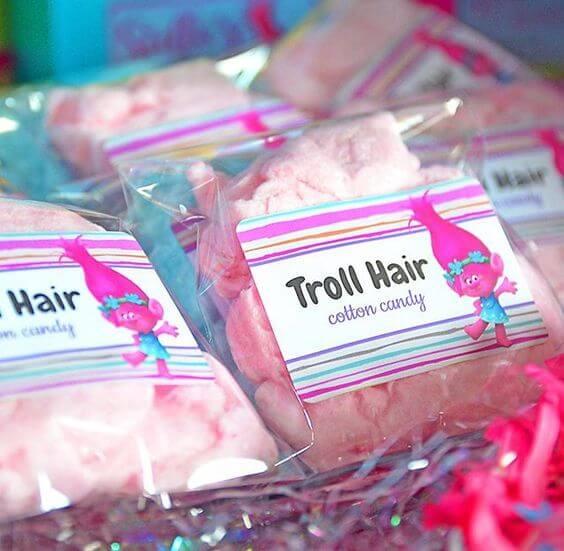 Troll Hair Cotton Candy Favors