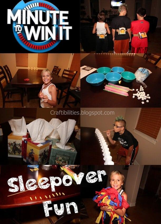 Minute to Win It Sleepover Fun