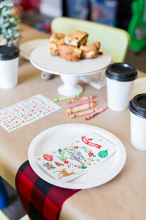 Kid's Christmas Party Table