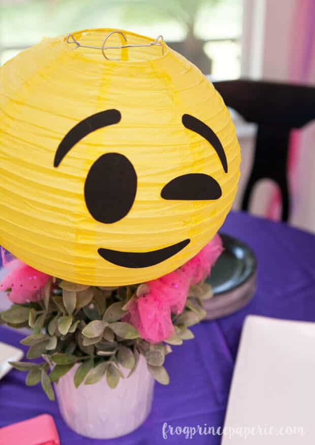 yellow paper lantern turned into an emoji