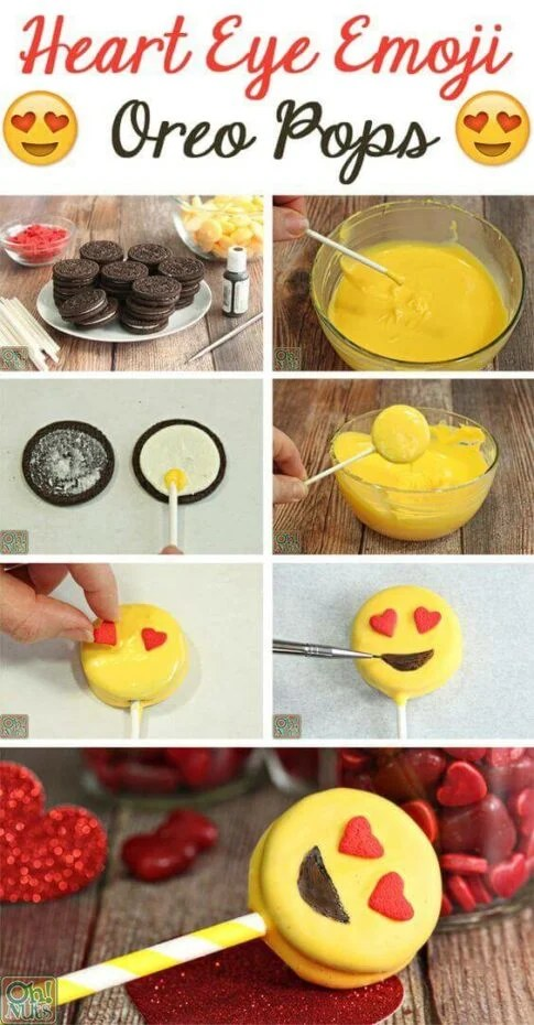 diy emoji oreo pops
