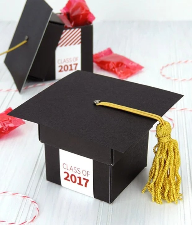 Graduation Cap Party Favor Boxes by Carlson Craft | 19 Graduation Party Favor Ideas