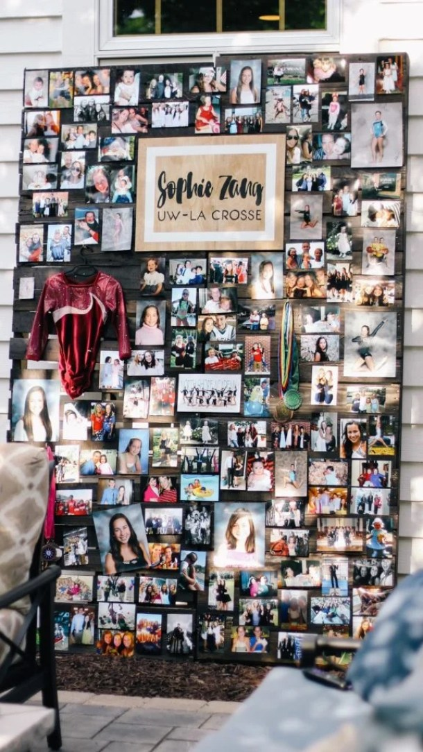 Graduation Photo Collage Board by By Sophia Lee | 19 Graduation Party Decoration Ideas