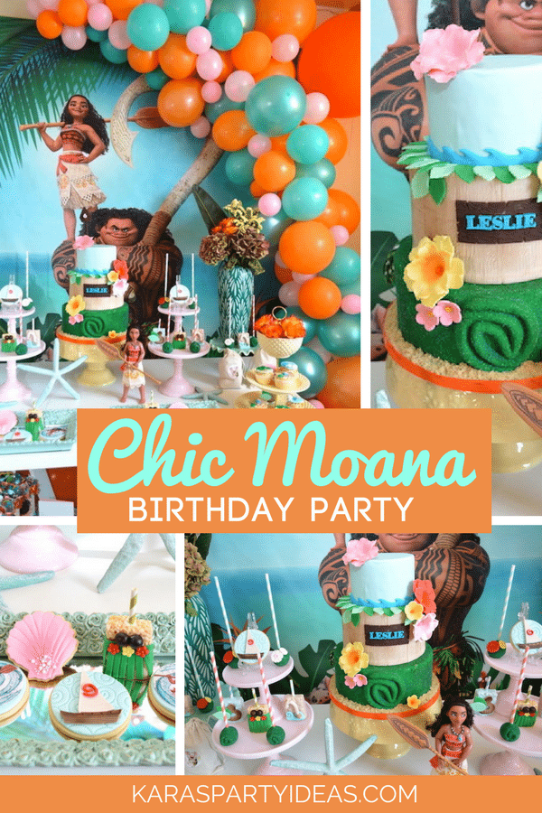 Chic Moana Birthday Party Ideas by Kara's Party Ideas | Moana birthday