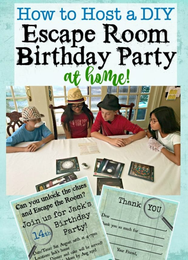DIY Escape Room Birthday Party for Teens by Mom of 6 | The best teen birthday party ideas!