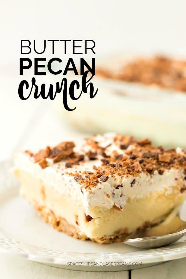 slice of butter pecan crunch dessert