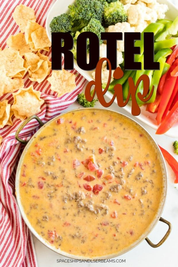 rotel dip in serving dish