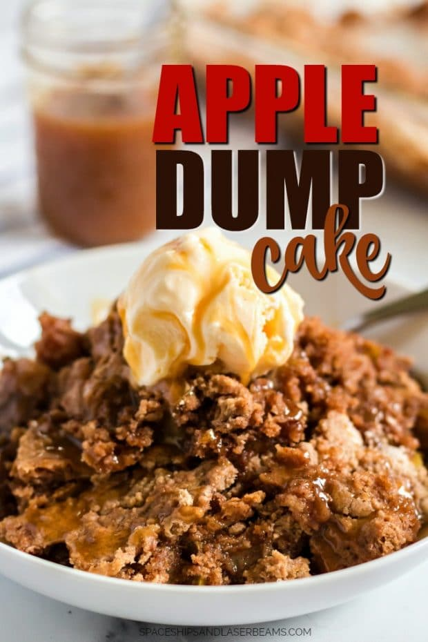 apple dump cake with ice cream