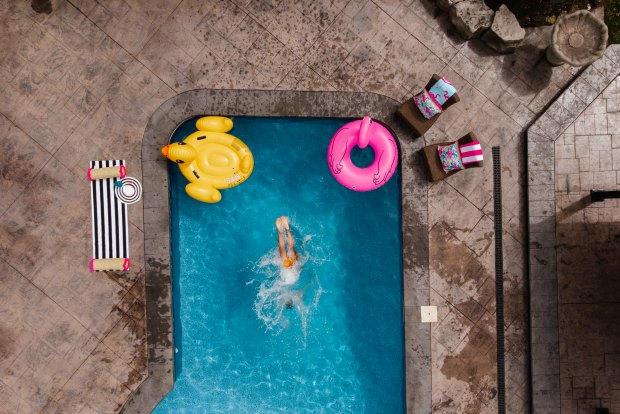 Swimming with HTH Pool Supplies