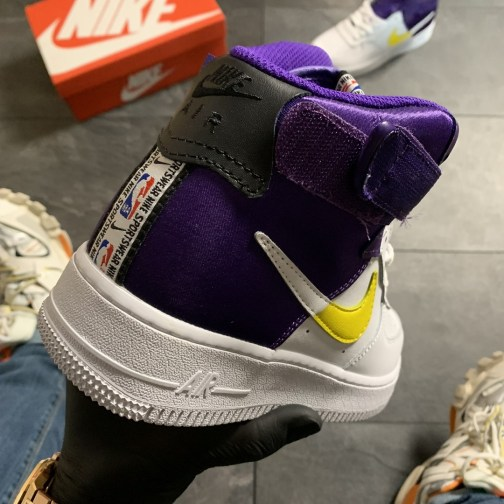 Мужские кроссовки Nike Air Force 1 07 LV8 High NBA Lakers • Space Shop UA