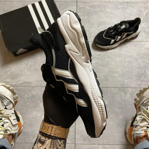 Кроссовки мужские Adidas Ozweego Black White (Черный Белый) • Space Shop UA