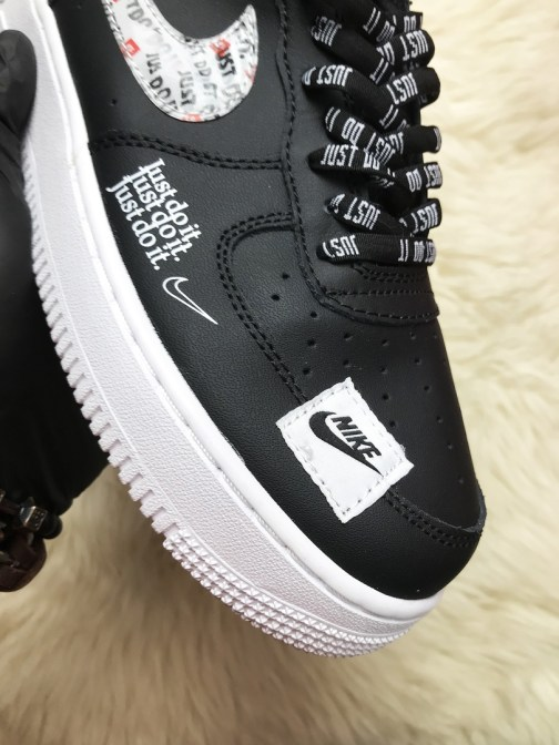 Кроссовки унисекс Nike Air Force 1 Just Do It Black and White • Space Shop UA