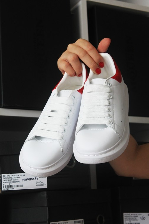 Женские кроссовки Alexander McQueen White and Red • Space Shop UA