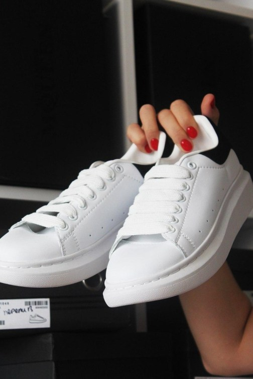 Кроссовки унисекс Alexander McQueen White Black • Space Shop UA