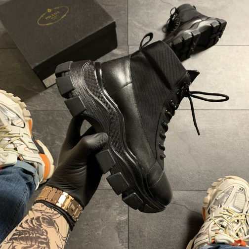 Ботинки унисекс Prada Black Milano Sneakers Block • Space Shop UA