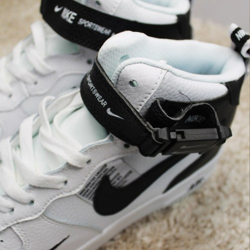 Кроссовки унисекс Nike Air Force 1 Mid '07 LV8 White Black • Space Shop UA