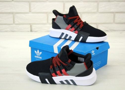Мужские кроссовки Adidas EQT Bask Adv Black Red • Space Shop UA