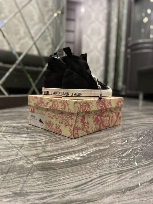 Кеды женские Dior B23 High-Top Black White (Черный) • Space Shop UA