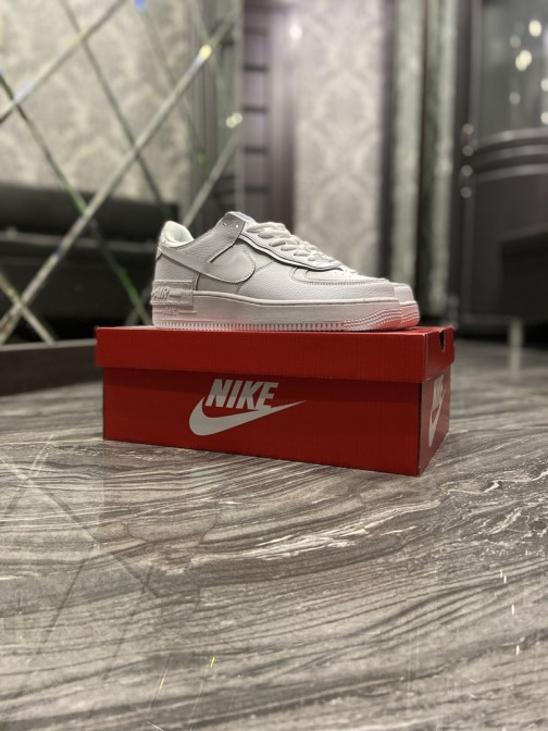 Кроссовки унисекс Nike Air Force Shadow Triple White (Белый) • Space Shop UA
