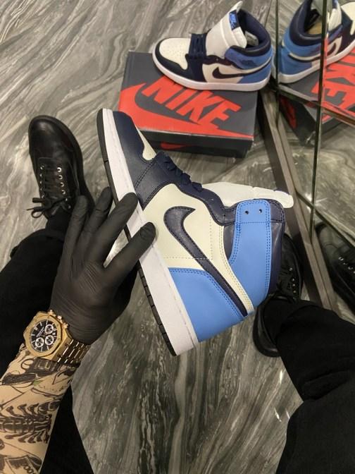 Nike Air Jordan 1 Blue (Синий) • Space Shop UA