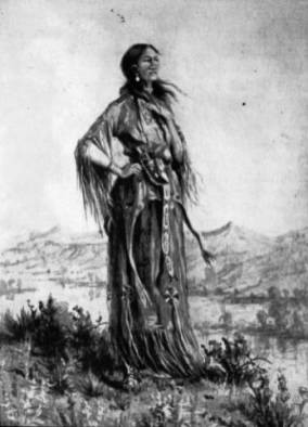Sacagawea, a Shoshone woman who acted as interpreter and guide for the Lewis & Clark Expedition.