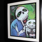 Detail of one of the whimsical prints that greet you at the front door.