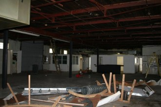 Another interior view of the Grove offices pre-renovation. (Told you the place was a disaster.)