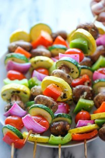 Grilled Veggie kebobs from damndelicious.net - YUM!
