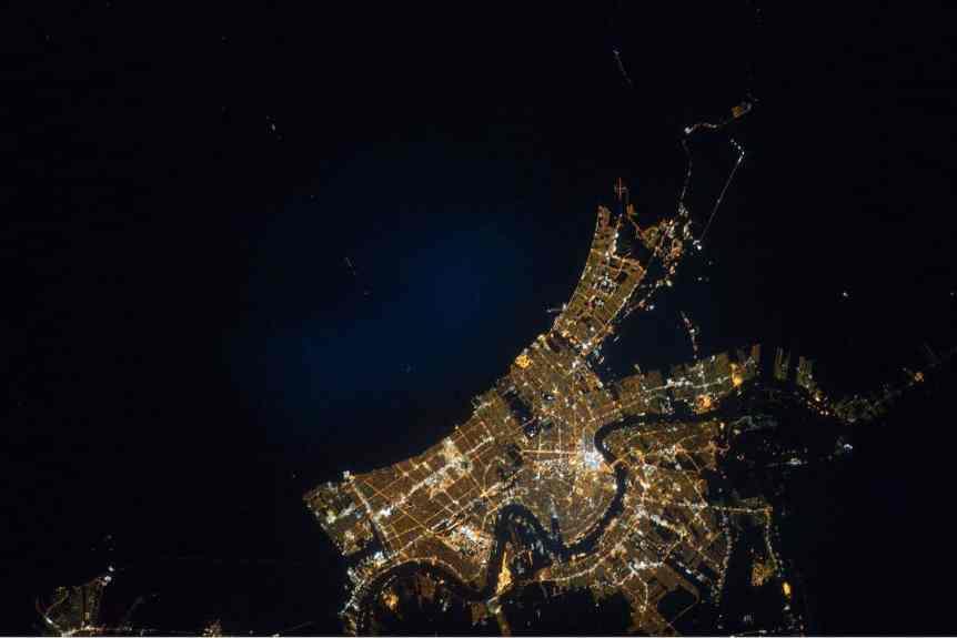 New Orleans by Night - NASA Marshall via Flickr