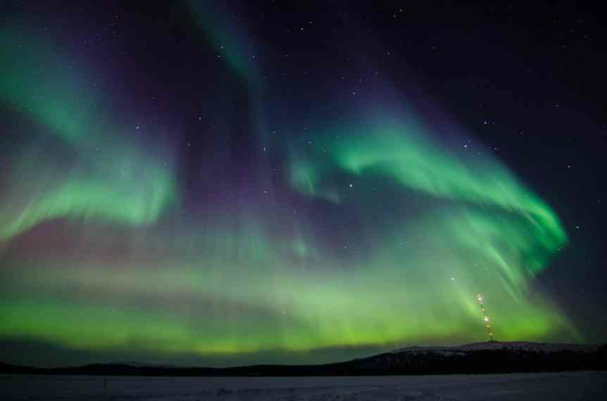 Photographing the Northern Lights in Sweden