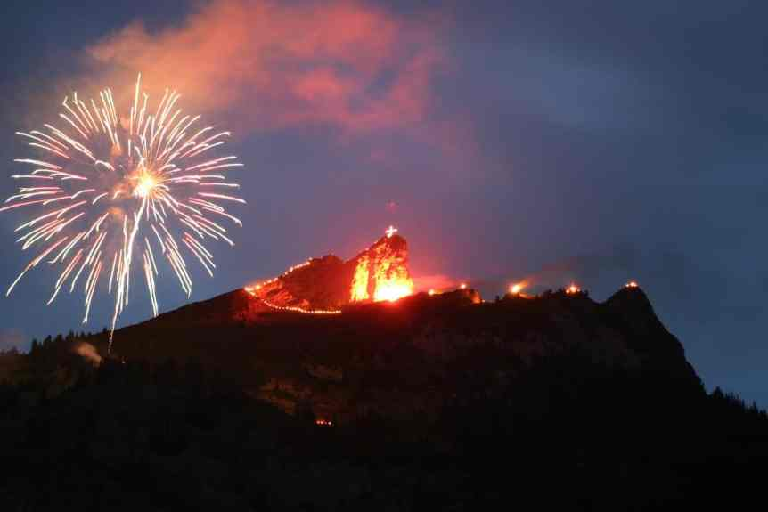 Solstice Fires in Tyrol Austria - Copyright Achensee Tourismus
