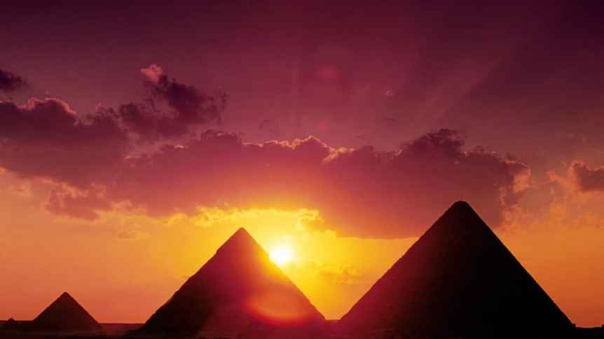 Sunset in Giza