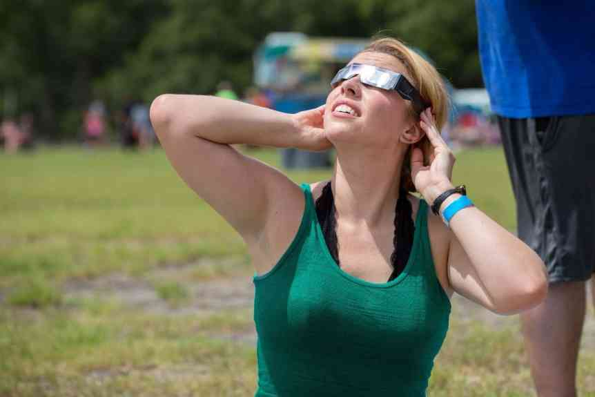Viewing the Solar Eclipse - North Charleston via Flickr