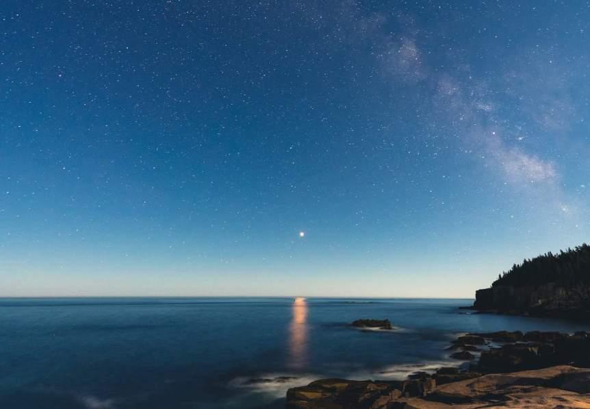 Night Sky February - Milky Way & Mars - Eric Kilby via Flickr