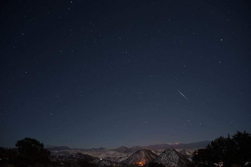Night Sky in January - Quadrantids - Mike Lewinski via Flickr