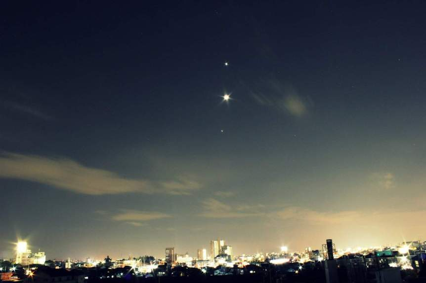 Moon, Venus & Jupiter - AnnaNakami via Flickr