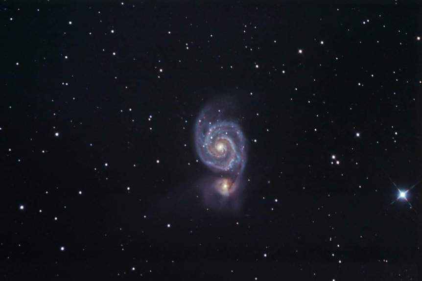 Whirlpool Galaxy - gianni via Flickr