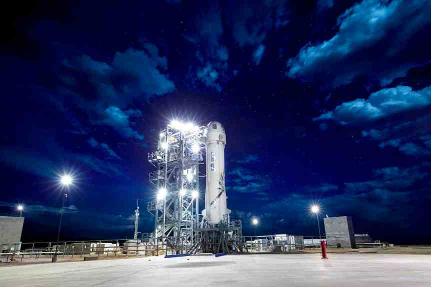 Blue Origin Company Profile - New Shepard on Pad 2