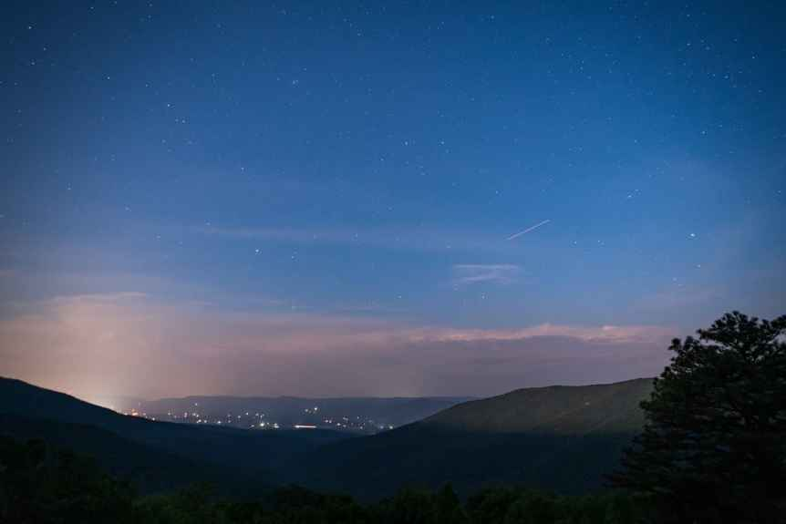 Shenandoah National Park at Night - Jeremys Run Overlook - John Brighenti via Flickr