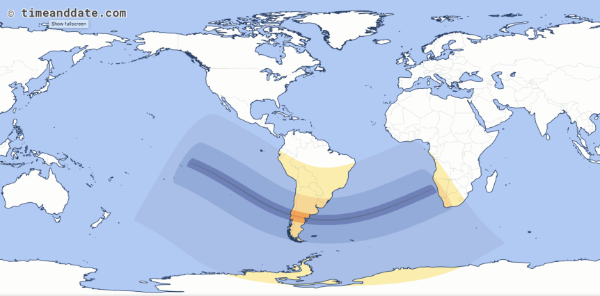2020 Total Solar Eclipse Map