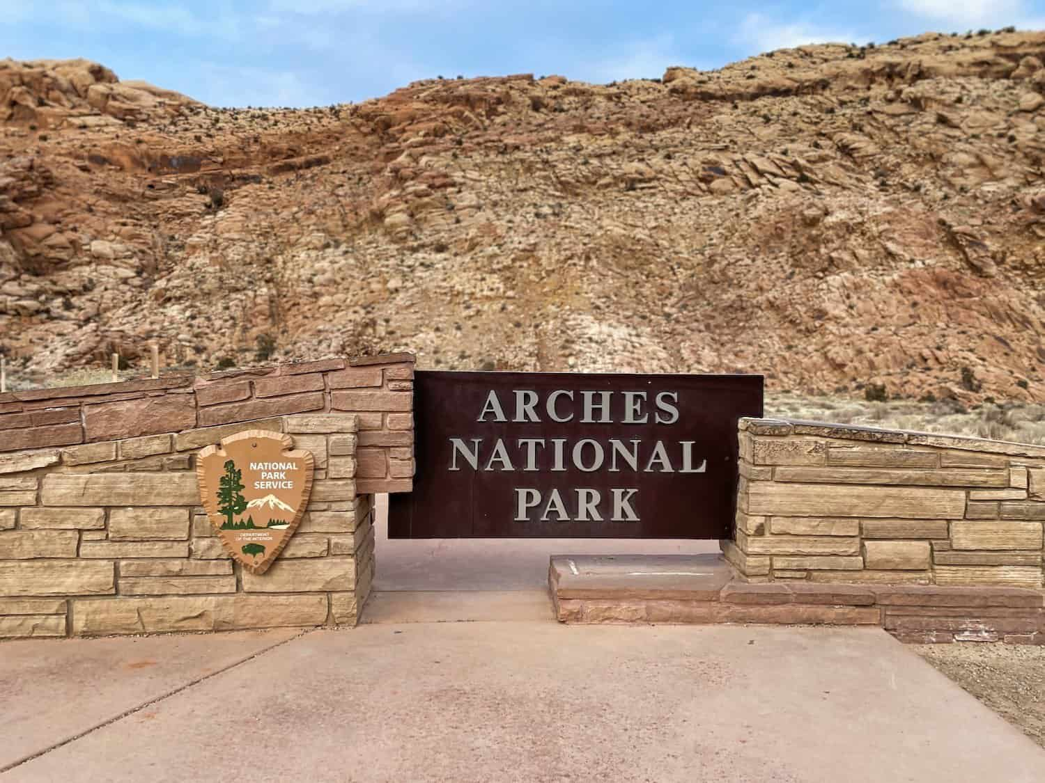 Arches National Park Entry Sign