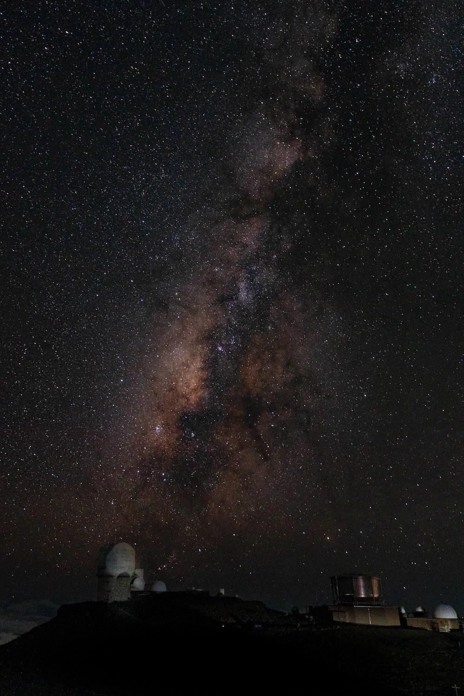 Haleakala Stargazing - Milky Way over the Observatories
