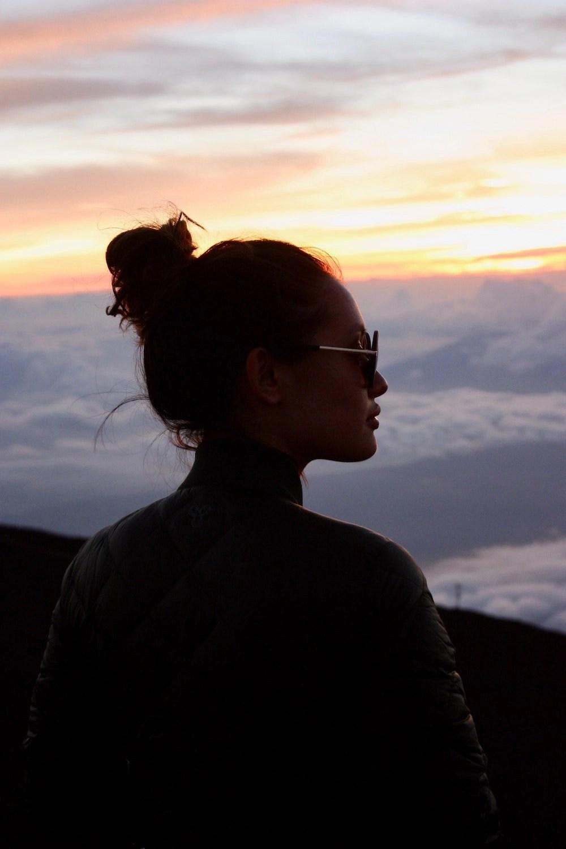 Haleakala Stargazing -  Woman in Silouhette