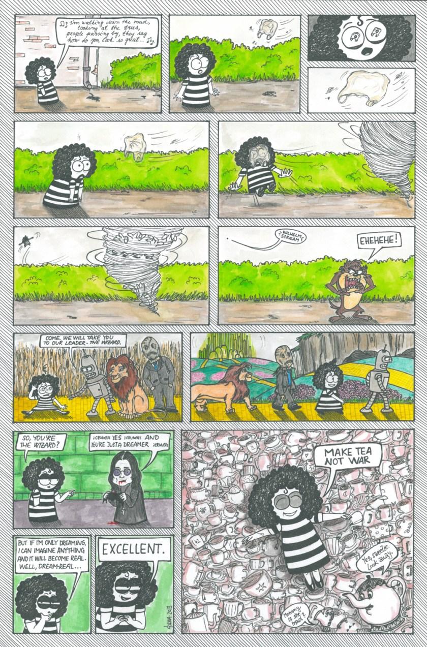 komiks 14 MAKE TEA NOT WAR
