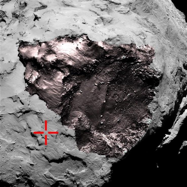 ERV scan reveals more 67P/Churyumov–Gerasimenko comet detail