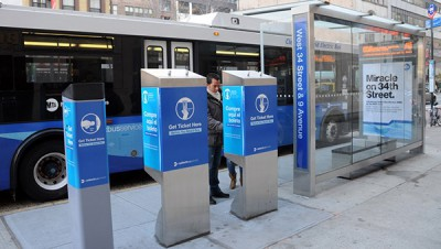 Simple off-board fare zone for 34th Ave Bus Rapid Transit in New York City