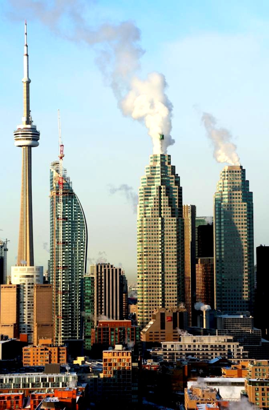 The iconic forms of Toronto's skyline. Photo by Victor Razgaitis, from UrbanToronto.ca