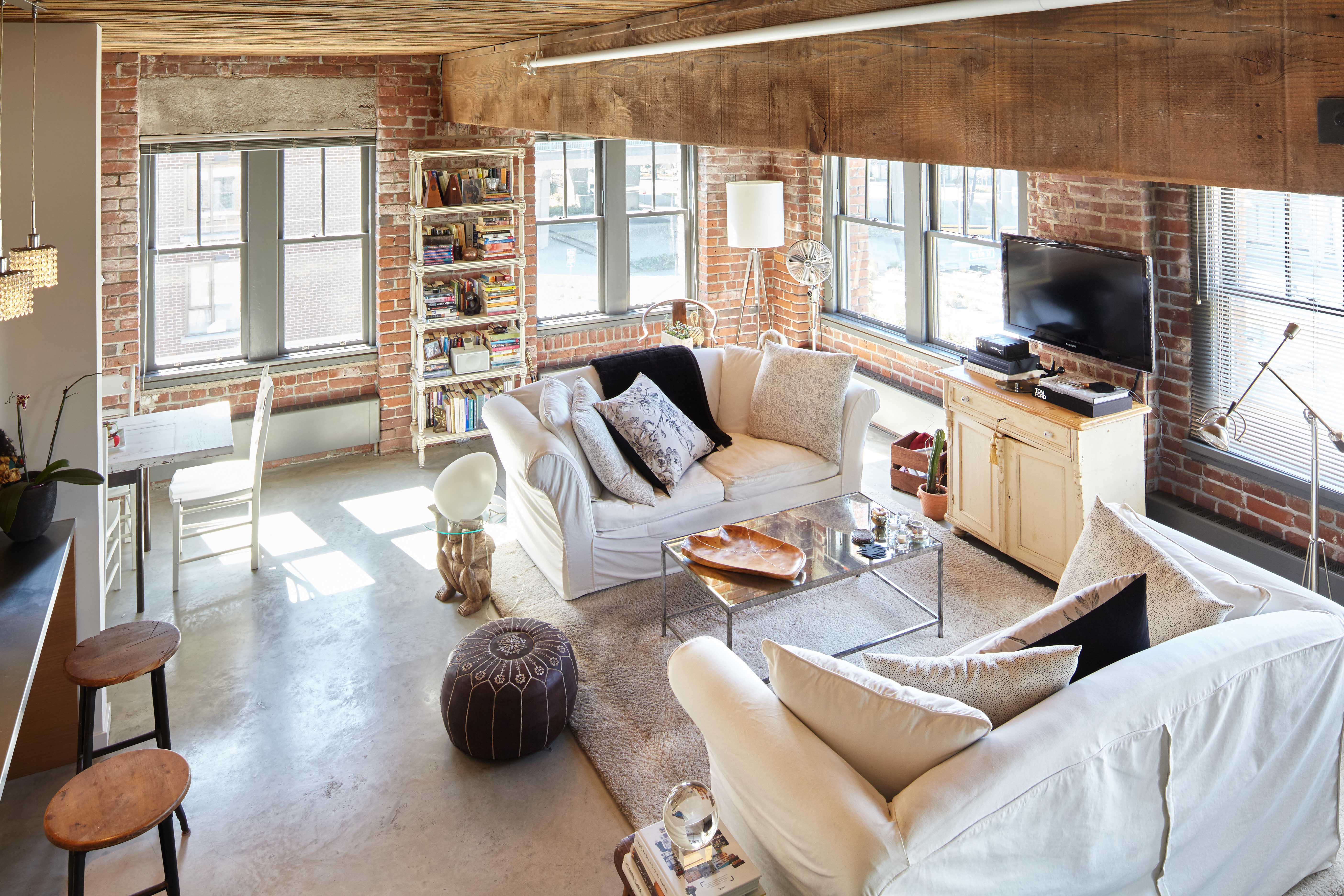 new york loft style living room decorating ideas with brick fireplace adaptive re use through spacing vancouver