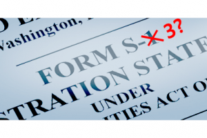 SEC Raises Questions on SPACs Use of Form S-3 Registration Statements